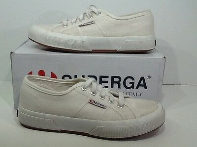 SUPERGA Unisex Cotu Classic M 5 / W 6.5 White Lace Up Sneakers Shoes X2-2162
