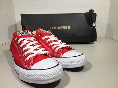 CONVERSE Unisex CT All Star Ox Red Canvas M 6 W 8 Shoes XJ-91