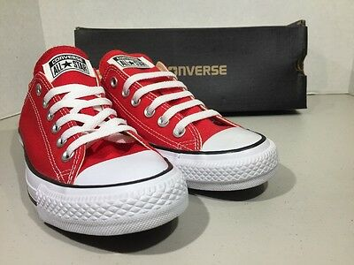 CONVERSE Unisex CT All Star Ox Red Canvas Size M 5 W 7 Sneakers Shoes XJ-93