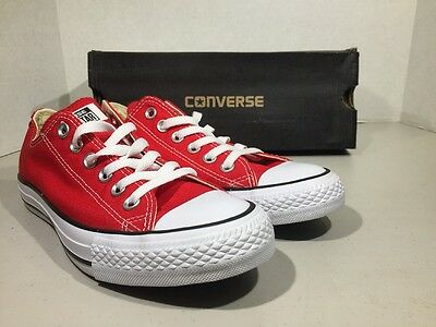 CONVERSE Unisex CT All Star Ox Red Canvas Size M 5 W 7 Sneakers Shoes XJ-90