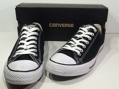 CONVERSE Unisex All Star Ox Size W 11 / M 9 Black Canvas Oxford Sneakers X2-2153