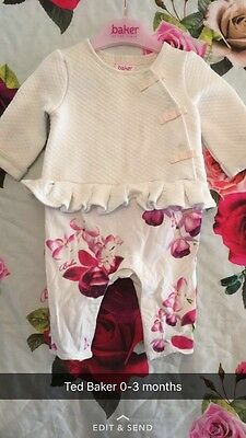 🎀 Ted Baker Baby Girl 0-3 Months All In One Romper 🎀