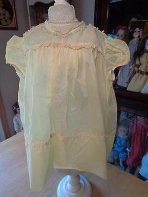 Vintage Yellow Baby/Child's/Toddler Dress~#4