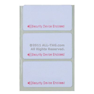EAS Anti Theft 2000 Checkpoint® Compatible 8.2 RF Label Plain White 23x24mm