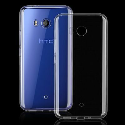 Transparent Clear Silicone Slim Gel Case For HTC U11