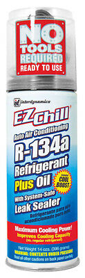 Interdynamics SD134A, EZ Chill R134a with Oil and Leak Sealer 13oz