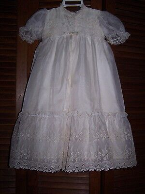 Ex Condition Ivory Vintage Infant Christening, Baptism gown  - 4 piece outfit