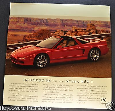 1995 Acura NSX-T Sales Brochure Sheet Nice Original 95