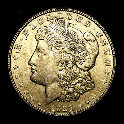 1921 S ~**ABOUT UNCIRCULATED AU**~ Silver Morgan Dollar Rare US Old Coin! #317