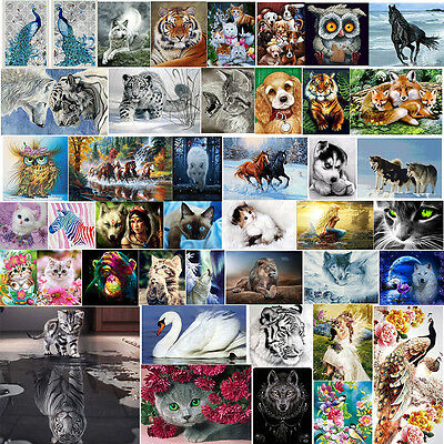 Animals 5D Diamond Embroidery DIY Craft Painting Cross Stitch Mosaic Home Decor