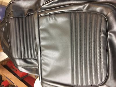 70 barracuda new complette matching front and rear seat covers BLACK