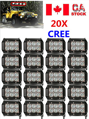 20X 4inch 18W CREE FLOOD LED LIGHT BAR WORK LAMP OFFROAD BOAT UTE CAR TRUCK SALE