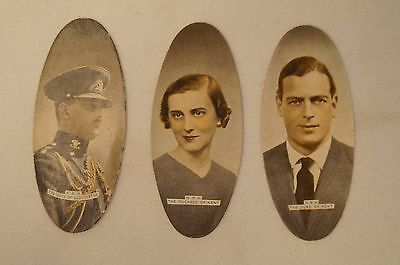 Collectable-Vintage-1935-Scarce Carreras Oval Cards- Duke of Kent-Gloucester