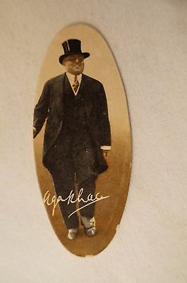 Collectable-Vintage-1935-Scarce Carreras Oval Card- HH The Aga Khan