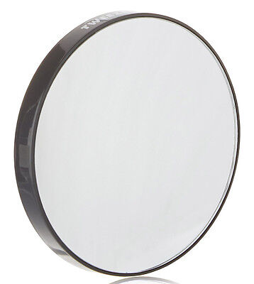 Tweezerman Black Round 12x Magnifying/Magnification Portable Travel Mirror