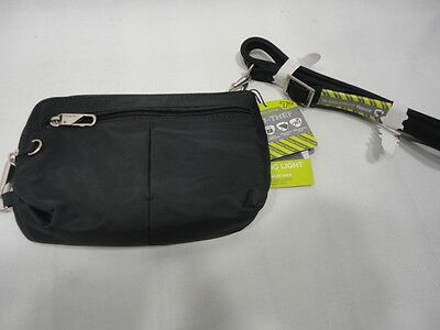 Travelon Anti-Theft Convertible Crossbody & Waistpack, Black - New with Defect