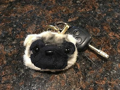 Pug Keychain - from FuzzyNation for dog lovers