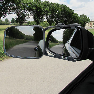 HOMCOM 2PC Universal Convex Towing Mirror Pair Quick Install Extented View Car