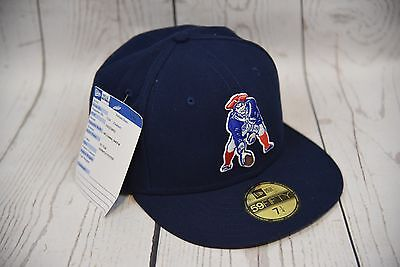 4695cd7352acfc NEW ERA 59FIFTY CAP LID HAT NEW ENGLAND PATRIOTS NAVY RED FITTED 5950 Mascot
