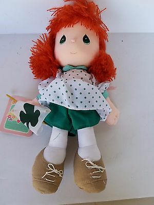 Precious Moments Doll Of The Month March Red Hair Green Dress
