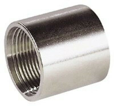 "1/2"" BSP 316 STAINLESS STEEL SOCKET 15mm FEMALE FEMALE JOINER"