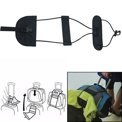 1x Add A Bag Strap Travel Luggage Suitcase Adjustable Belt Carry On Bungee Strap