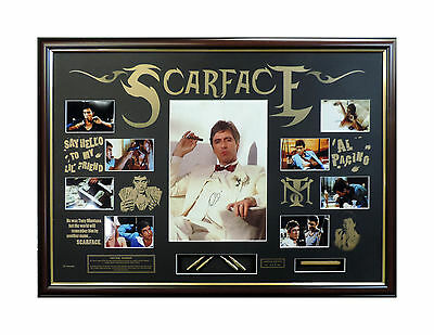 Scarface Signed And Framed Limited Edition Movie Memorabilia Coa