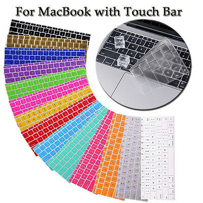 """Keyboard Cover Protector MacBook PRO 13 15"""" w/ Touch BAR ID 2016 New A1706 A1707"""