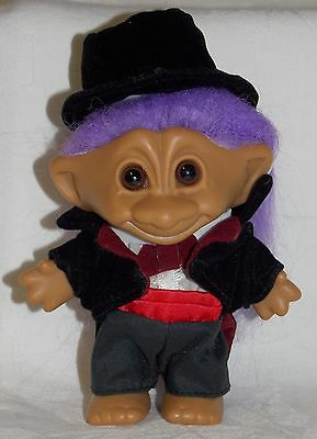 "4"" Unmarked 1990's Groom in Velvet Hat & Jacket, Sweet Face!!"