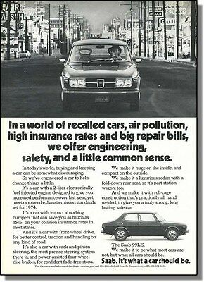 1973 Saab 99LE - A Little Common Sense Car-Ad