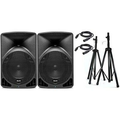 "Alto TX8 8"" Truesonic 560W Powered PA Speaker Pack w/ Stands & Cables"