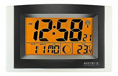 Acctim Strato Radio Controlled Wall/Desk Clock with Alarm And Snooze 74657 new