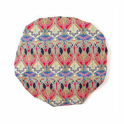 Sophisticated Liberty Fabric Shower Cap With Satin Detailing Design Ianthe