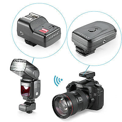 Neewer Radio Wireless Flash Trigger with 2 receiver for Canon Nikon Speedlite
