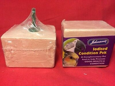 Johnsons Iodine block Condition Pek X 2 Calcium Yeast Kelp Iodined Grit 100 Grm