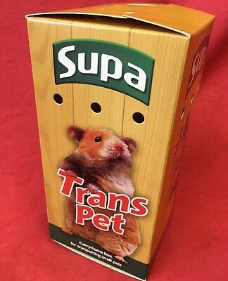 Carrying Box 6 X 3 Inch Hamster Mice Gerbils Carry Home Vets Transport Air Holes