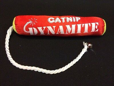 Cat Kitten Toy Catnip Dynamite & Bell Red Interactive 15 inch overall