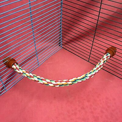Rope Perch 15 Inches Flexible Budgie Cockatiel Parakeet Lovebird Canary Finch