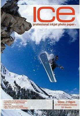 ICE Gloss Photo Paper, 210gsm 6 x 4 - 50 Sheets