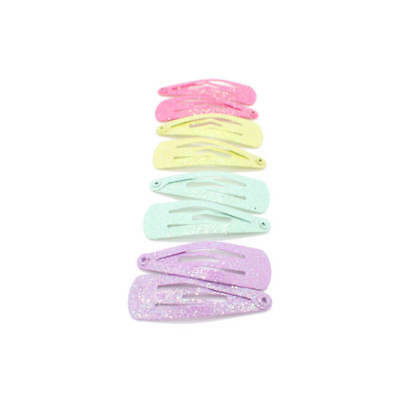 8x BABY MINI HAIR CLIPS SMALL GLITTER SNAP HAIR CLIP LITTLE GIRLS BENDIES CLIPS