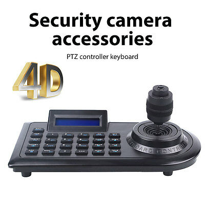 LCD 4D 4 Axis Control Keyboard Joystick Controllers for PTZ CCTV Camera DVR