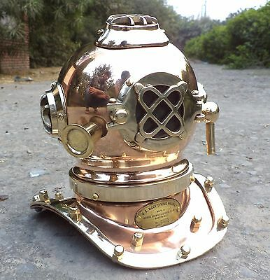Maritime Miniature Deep Diving Divers Helmet Scuba Replica Copper Desktop Tool