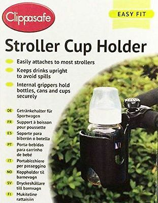 New Clippasafe Stroller Cup Holder For Buggy Pram Pushcahir Toddlers
