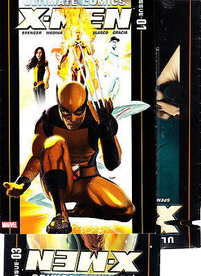 Ultimate Comics:   X-Men    NºS 1. 3. 5.  Lote  ( 3  Numeros  ) Marvel En Ingles