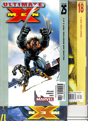 Ultimate   X-Men    NºS  17. 18.  25   Lote  (  3   Numeros  )  Marvel En Ingles