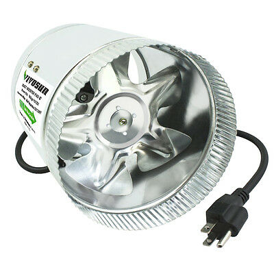 "VIVOSUN 4"" 6"" 8"" inch Inline Duct Booster Fan Exhaust Blower Cooling Ventilation"