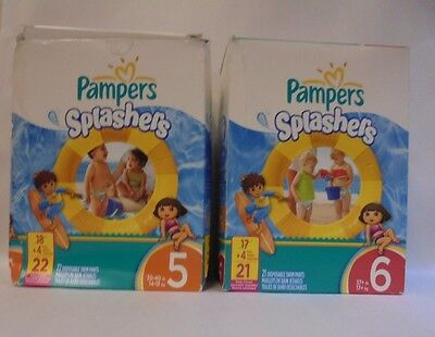 Pampers Splashers Swim Pants Disposable Stretchy and Easy Open Sides You Choose