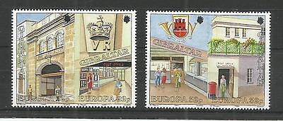 Gibraltar 1990 Europa Post Office Buildings Sg,626-629 U/mm N/h Lot 4432A