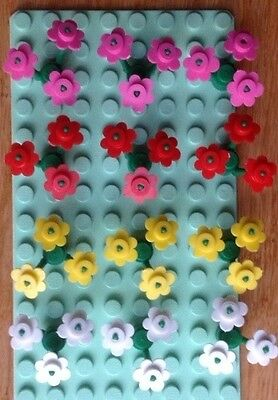 Lego Flowers! Dark Pink, Red, Yellow and White Flowers from Town, City, Friends!