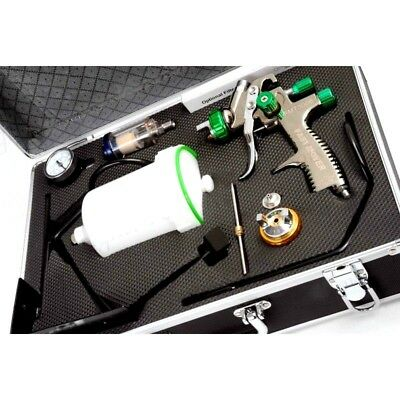 FMT LVLP SPRAY GUN KIT 1.3 1.8 mm FMT4007 gun colours may vary